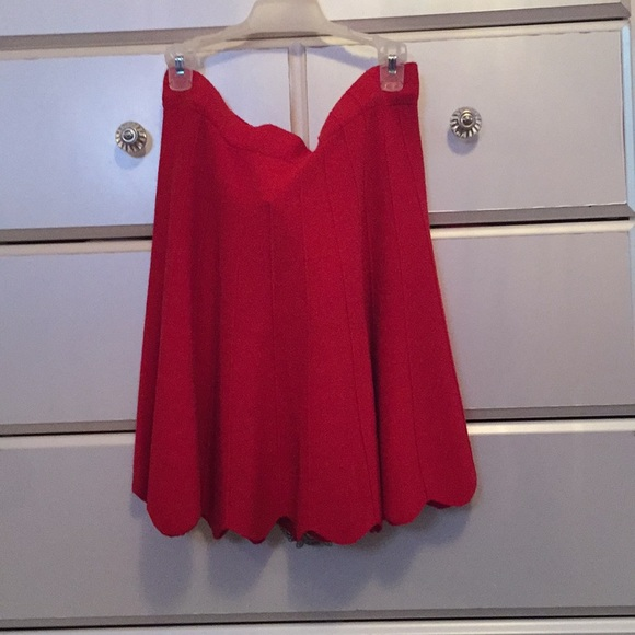 Candie's Dresses & Skirts - Red knee length skirt